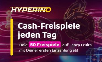 Hyperino - Jetzt täglich Freespins abräumen!