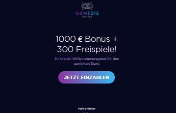 Genesis Spins Bonus