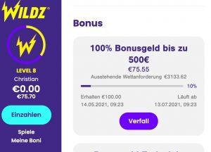 Bonusjagd im Online Casino spielen
